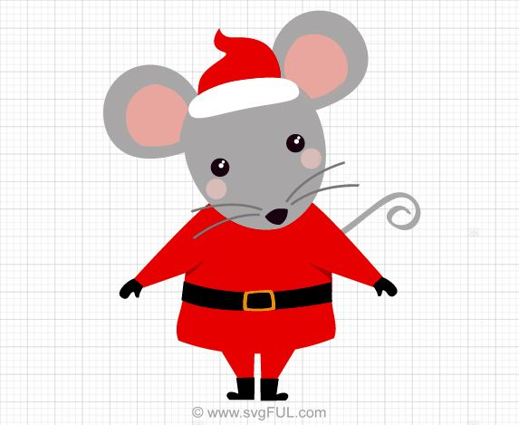 Santa mouse clipart clip art freeuse library Santa Mouse Svg Christmas Clip Art | Christmas Svg, Clip Art ... clip art freeuse library