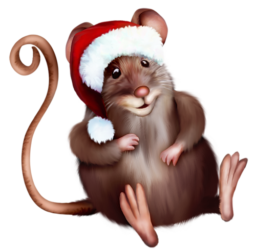 Santa mouse clipart image library download Mouse with Santa Hat Clipart Cartoon | Gallery Yopriceville ... image library download