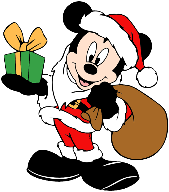 Santa mouse clipart clip art black and white download Mickey Mouse Christmas Clip Art | Disney Clip Art Galore clip art black and white download