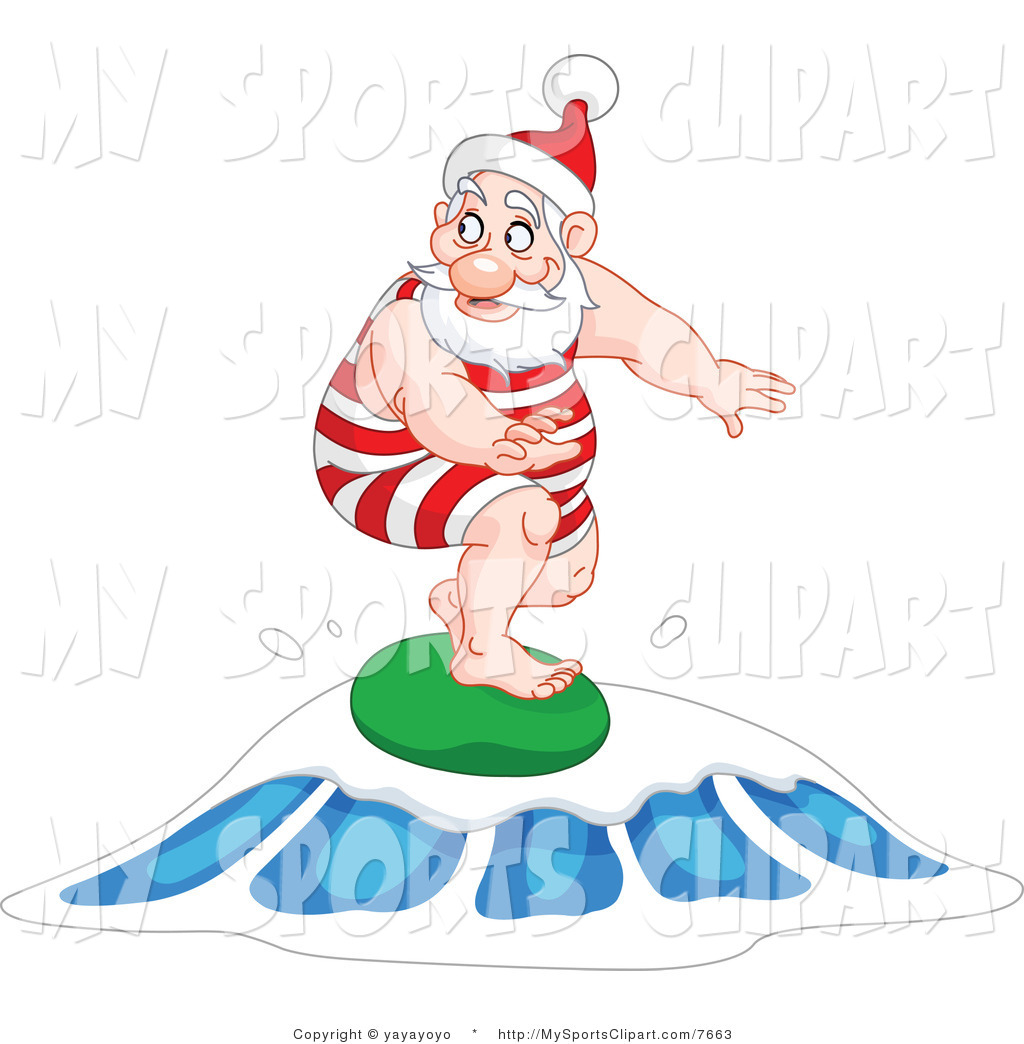 Santa on a surfboard clipart graphic transparent library Santa on a surfboard clipart - ClipartFest graphic transparent library