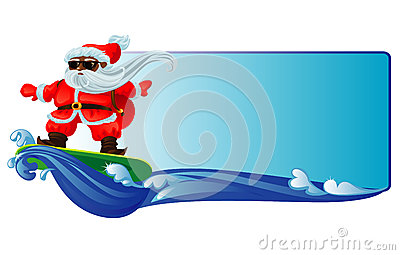 Santa on a surfboard clipart free Surf santa clipart free - ClipartFest free
