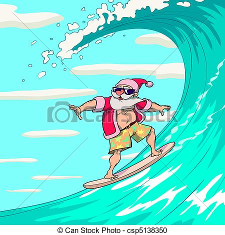Santa on a surfboard clipart graphic free stock Santa on a surfboard clipart - ClipartFest graphic free stock