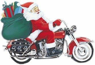 Santa on harley clipart black and white library Free Christmas Motorcycle Cliparts, Download Free Clip Art ... black and white library