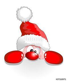 Santa peeking clipart freeuse Image result for cartoon santa face peeking in window ... freeuse