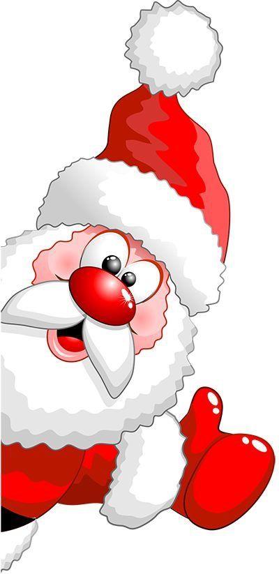 Santa peeking clipart png library download Cartoon Pics Of Santa Claus Clipart | Free download best ... png library download