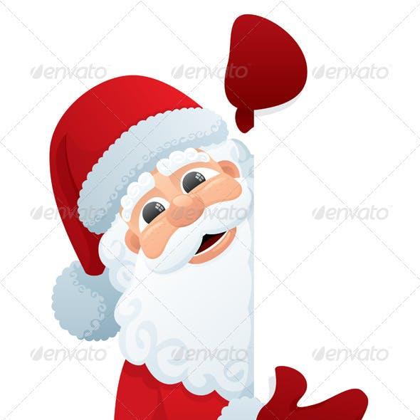 Santa peeking clipart clip free download Peeking Graphics, Designs & Templates from GraphicRiver clip free download