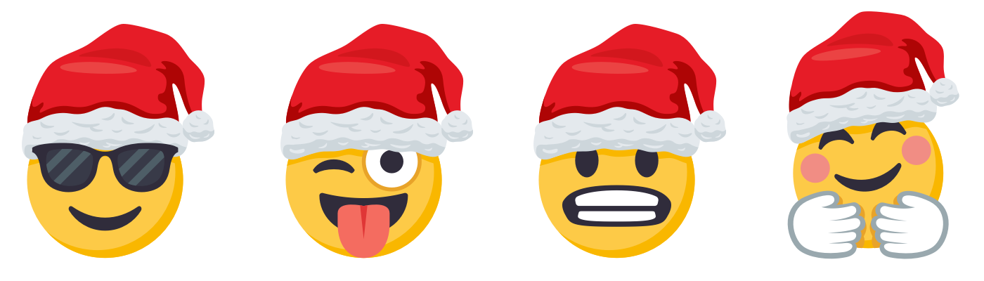 Santa Smiley Pack is Coming to Town!   EmojiOne Blog jpg