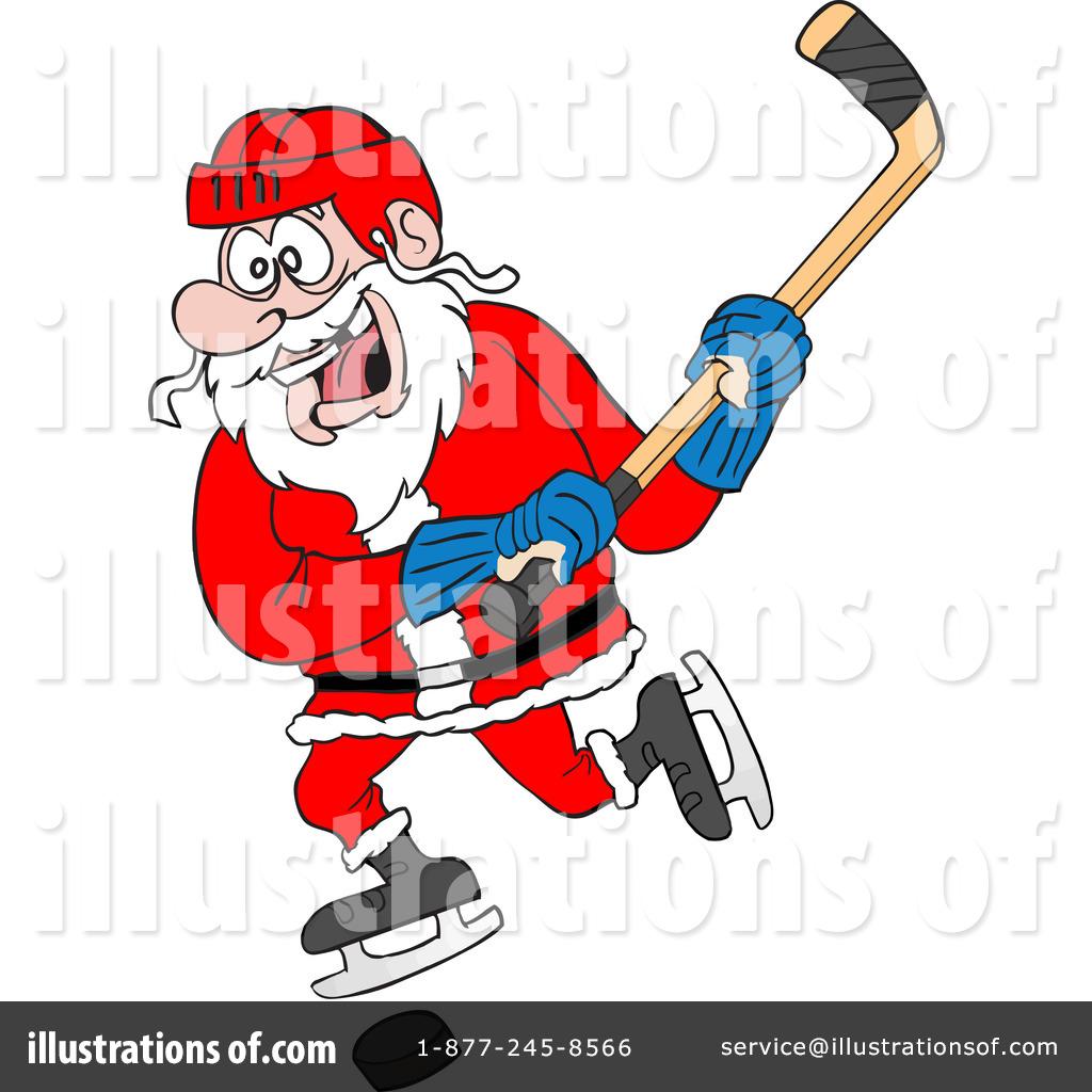 Santa playing hockey clipart svg download Hockey Clipart #84282 - Illustration by LaffToon svg download