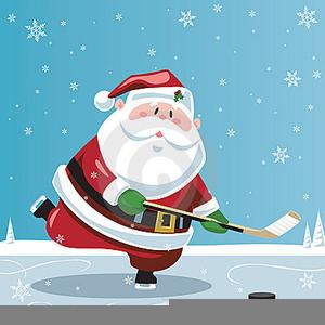 Santa playing hockey clipart banner black and white stock Santa Playing Hockey Clipart | Free Images at Clker.com ... banner black and white stock