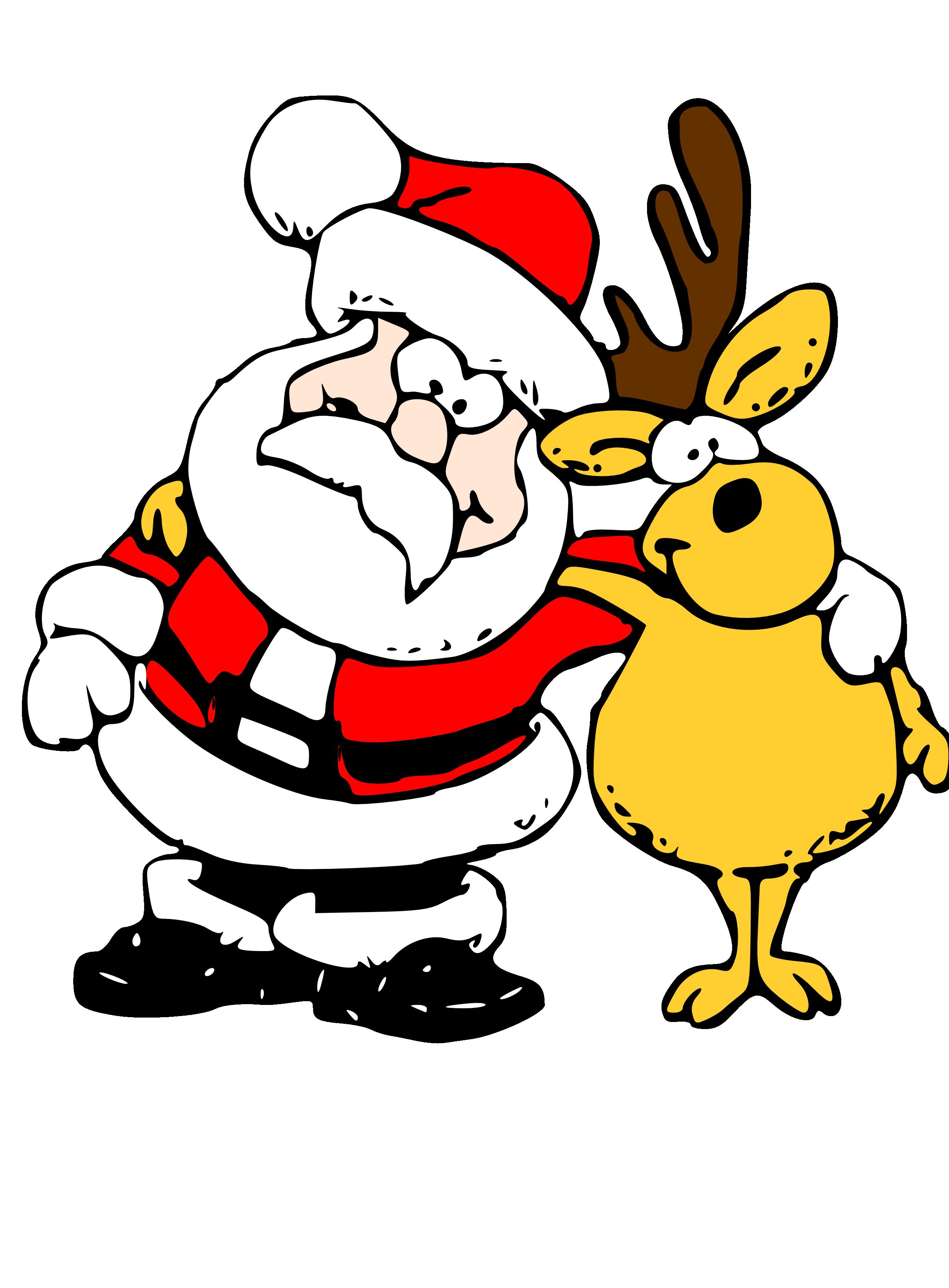 Christmas secret santa clipart clip Free Santa Reindeer Cliparts, Download Free Clip Art, Free ... clip