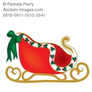 Santa s slay clipart clipart free stock Clip Art Illustration of Santa\'s Sleigh clipart free stock