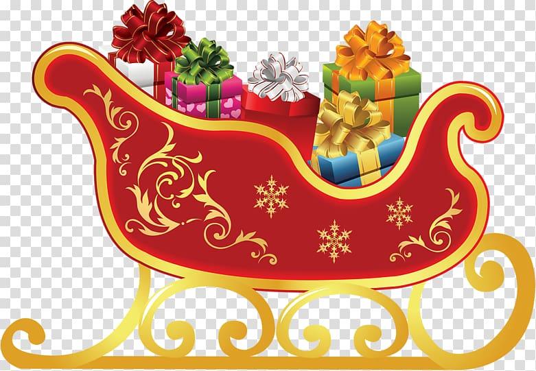 Santa s slay clipart clipart freeuse download Rudolph Santa Claus Sled Christmas , santa sleigh ... clipart freeuse download