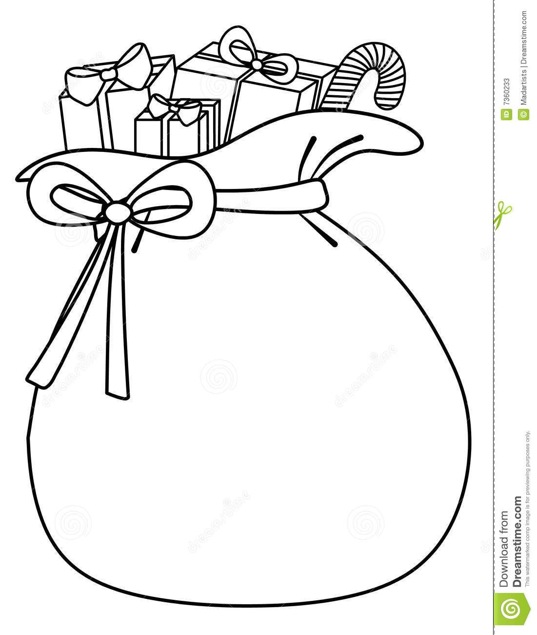 Santa s toy shop clipart black and white clip art free download Santa Sack Of Toys Background Stock Photos - Image: 7360233 ... clip art free download