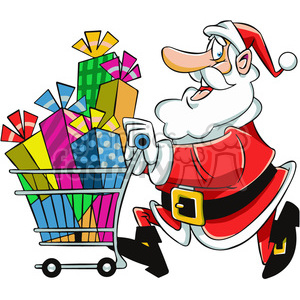 Shopping graphics clipart png library santa with shopping cart full of presents clipart. Royalty-free clipart #  400421 png library