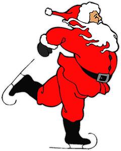 Santa skating clipart clipart black and white library Christmas Animations - Santa Clipart clipart black and white library