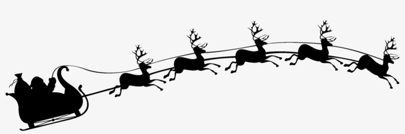 Santa sleigh clipart silhouette svg black and white stock Santa Sleigh Silhouette PNG & Download Transparent Santa ... svg black and white stock