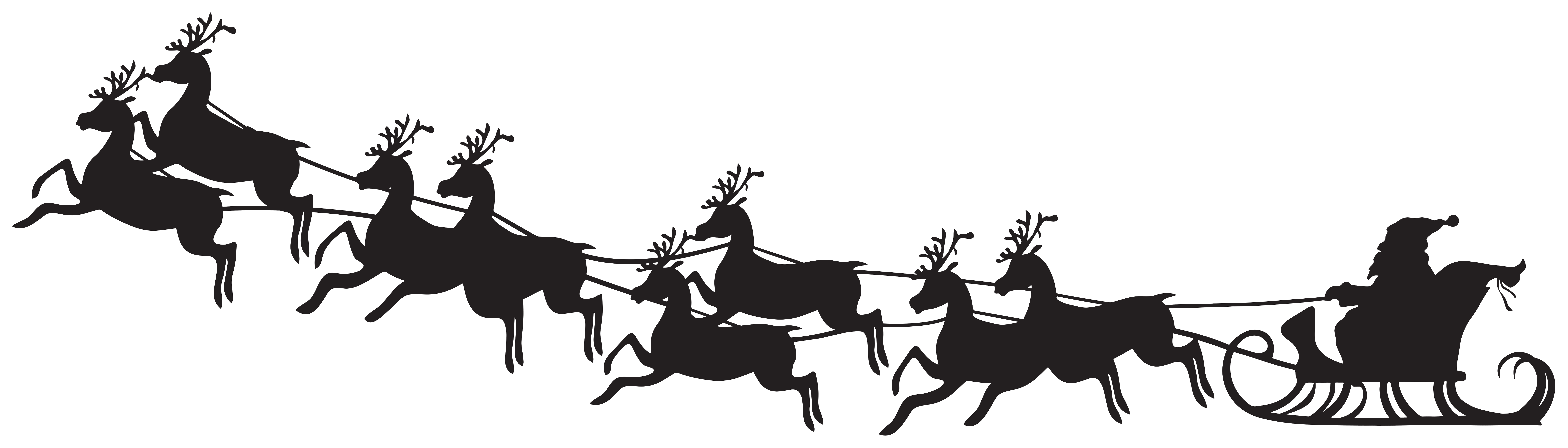 Santa sleigh clipart silhouette transparent library Santa Sleigh Silhouette Clip Art Image | Gallery ... transparent library
