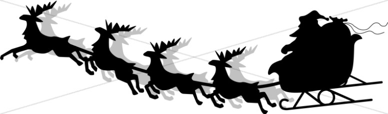 Santa sleigh clipart silhouette png royalty free library Santa and Sleigh Silhouette | Religious Christmas Clipart png royalty free library