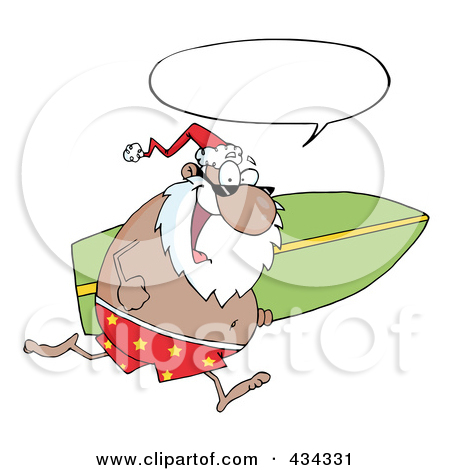 Santa surfboard clipart vector transparent download Royalty-Free (RF) Surfing Santa Clipart, Illustrations, Vector ... vector transparent download