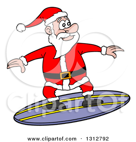 Santa surfboard clipart jpg black and white download Royalty-Free (RF) Surfer Santa Clipart, Illustrations, Vector ... jpg black and white download