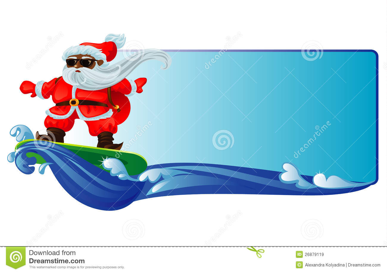 Santa surfboard clipart graphic black and white download Santa Surfboard Stock Photos, Images, & Pictures - 288 Images graphic black and white download