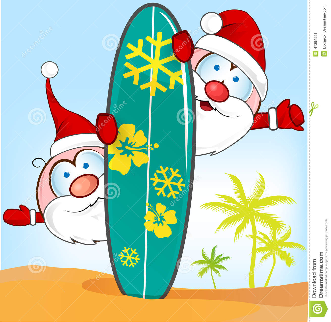 Santa surfboard clipart clip art royalty free Santa Surfboard Stock Photos, Images, & Pictures - 288 Images clip art royalty free