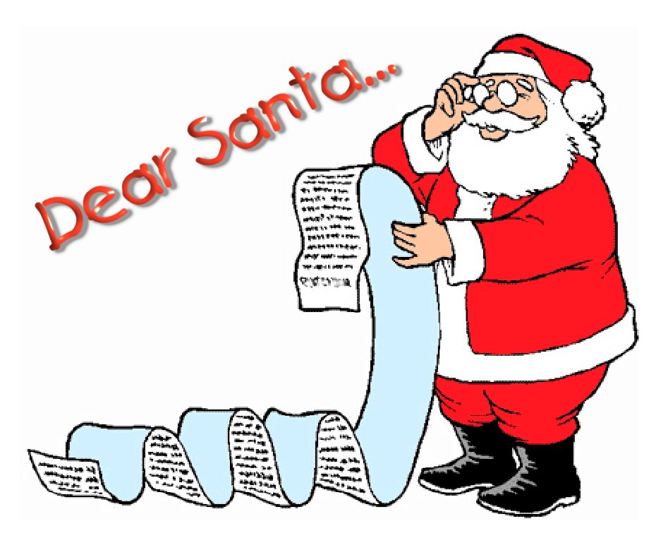 Santa wish list clipart png black and white library Santa wish list clipart - ClipartFest png black and white library