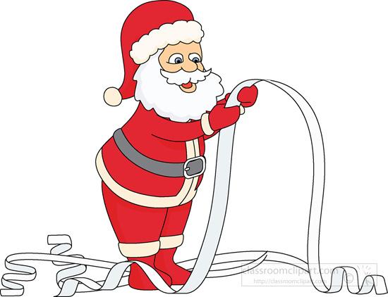 Santa wish list clipart svg free library Christmas List Clipart - Clipart Kid svg free library