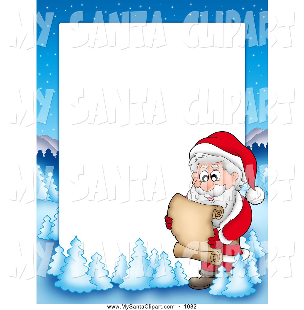 Santas christmas list clipart graphic library library Santa Border Clipart - Clipart Kid graphic library library