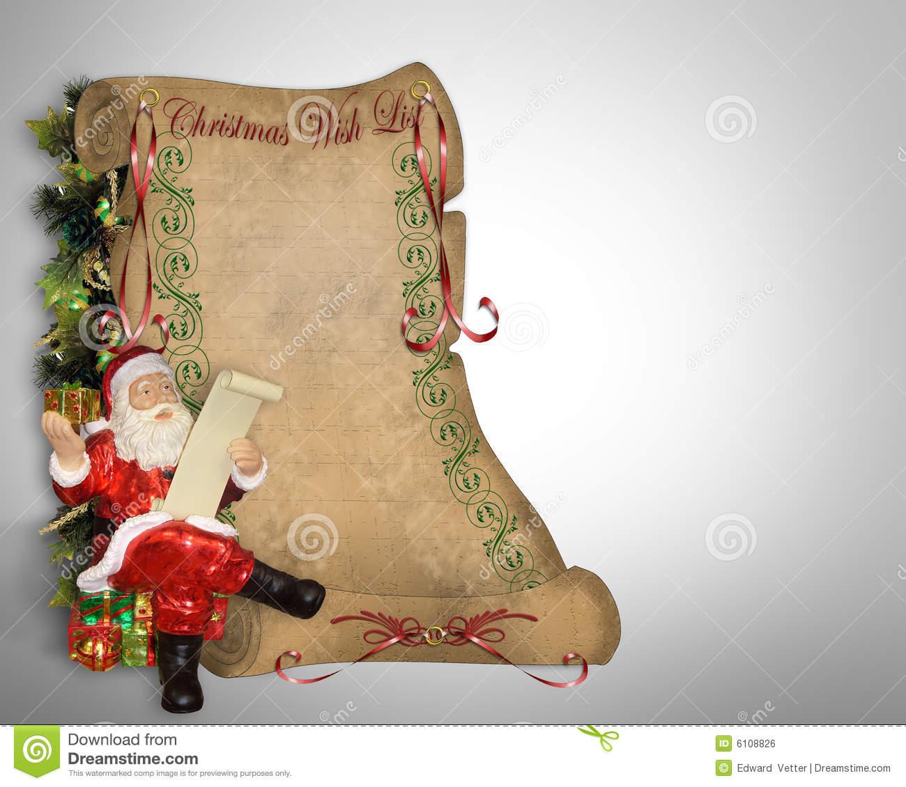 Santas christmas list clipart picture transparent stock Free christmas wish list clipart - ClipartFest picture transparent stock