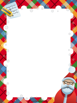 Santas christmas list clipart image Desk Of Santa Border Clipart - Clipart Kid image