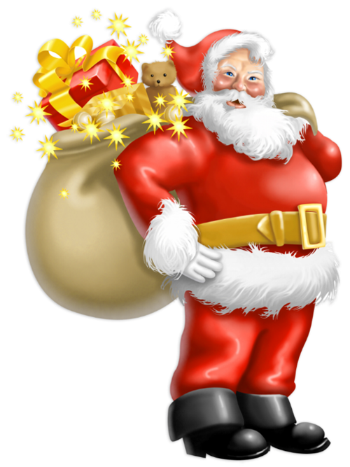 Christmas star gift stack clipart jpg free Transparent Santa Claus with Gifts PNG Clipart | Santa claus ... jpg free
