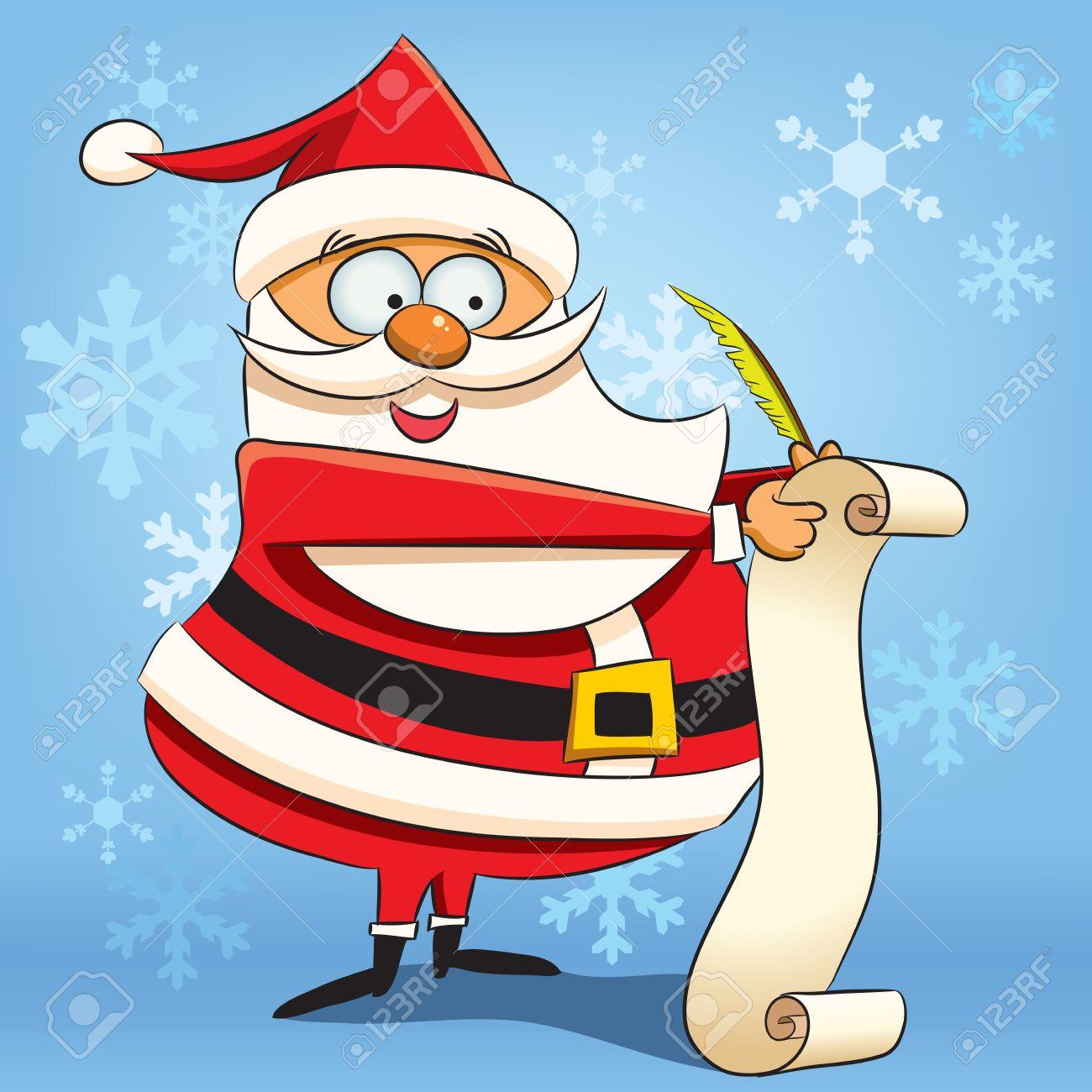 Santas christmas list clipart image Free Christmas Wish List. christmas - elf and his wish list ... image