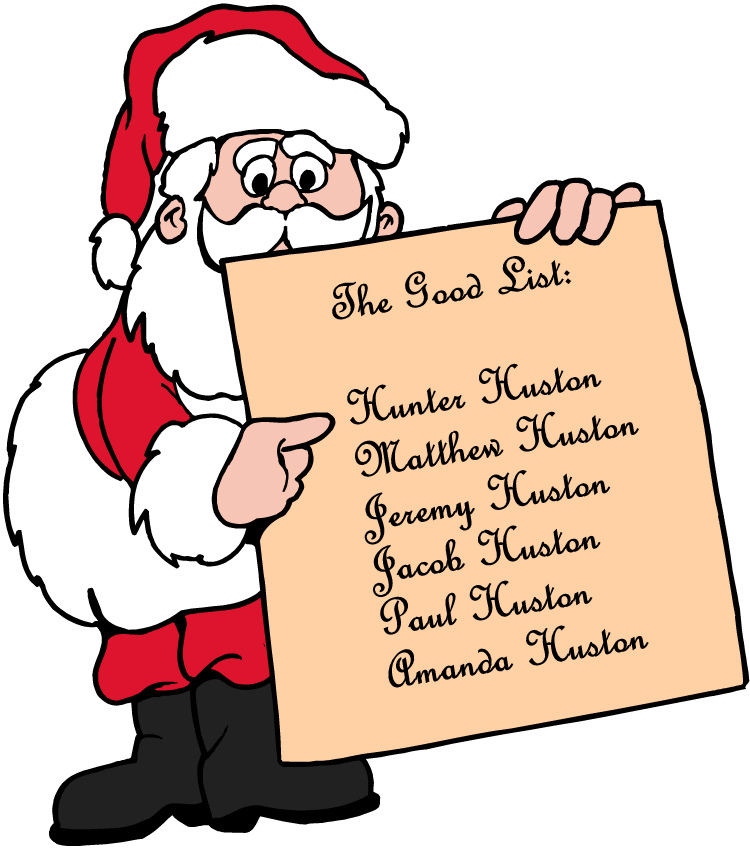 Santas christmas list clipart clipart library library Christmas prayer list clipart - ClipartFox clipart library library