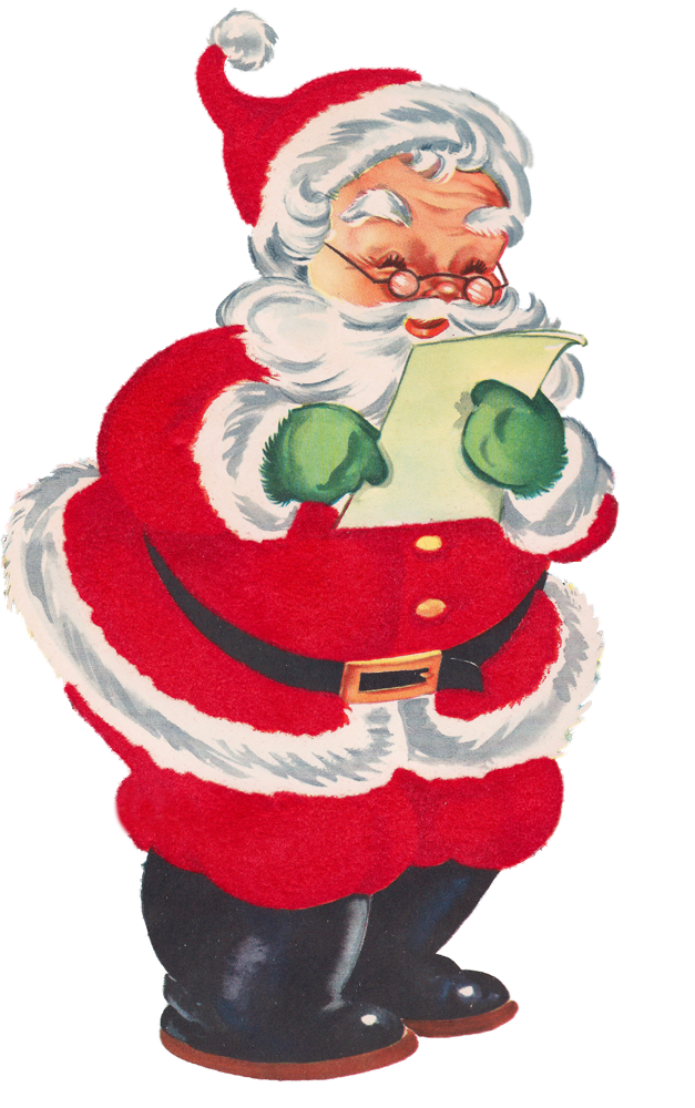 Santas christmas list clipart image free ImagiMeri's: Even more Christmas graphics! Oh My! | VINTAGE ... image free