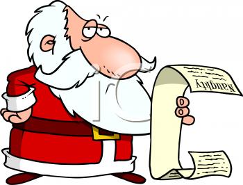 Santas list clipart svg black and white stock Santas Naughty List Clipart svg black and white stock