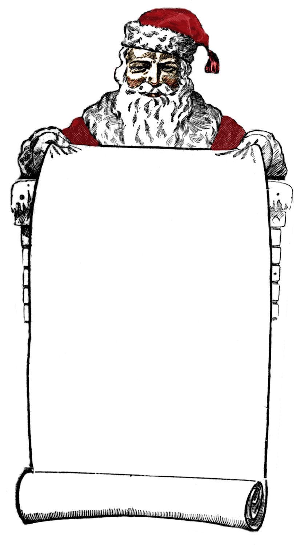 Santas list clipart clip freeuse Vintage santa list clipart - ClipartFox clip freeuse