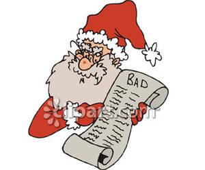 Santas list clipart banner royalty free stock Naughty Santa Clipart - Clipart Kid banner royalty free stock