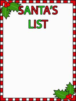Santas list clipart picture royalty free library Santas list clipart - ClipartFest picture royalty free library