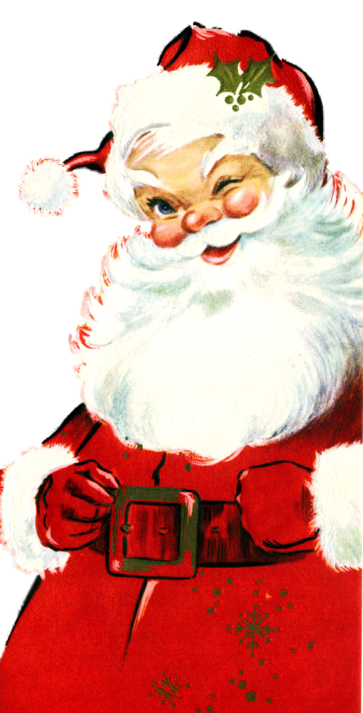 Sante and reindeer sun laghs clipart graphic black and white stock Vintage Santa - my favorite Santa face.   Santa Claus   Pinterest ... graphic black and white stock