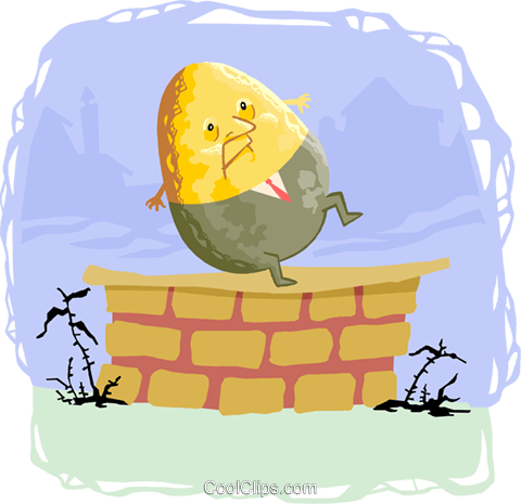 Sat vector clipart jpg royalty free download humpty dumpty sat on the wall Royalty Free Vector Clip Art ... jpg royalty free download