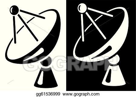 Satellite dish clipart svg transparent stock Vector Art - Satellite dish. EPS clipart gg61536999 - GoGraph svg transparent stock