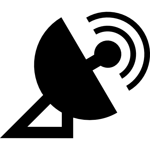 Satellite dish graphics clipart clip black and white download Media satellite dish with signal Icons   Free Download clip black and white download