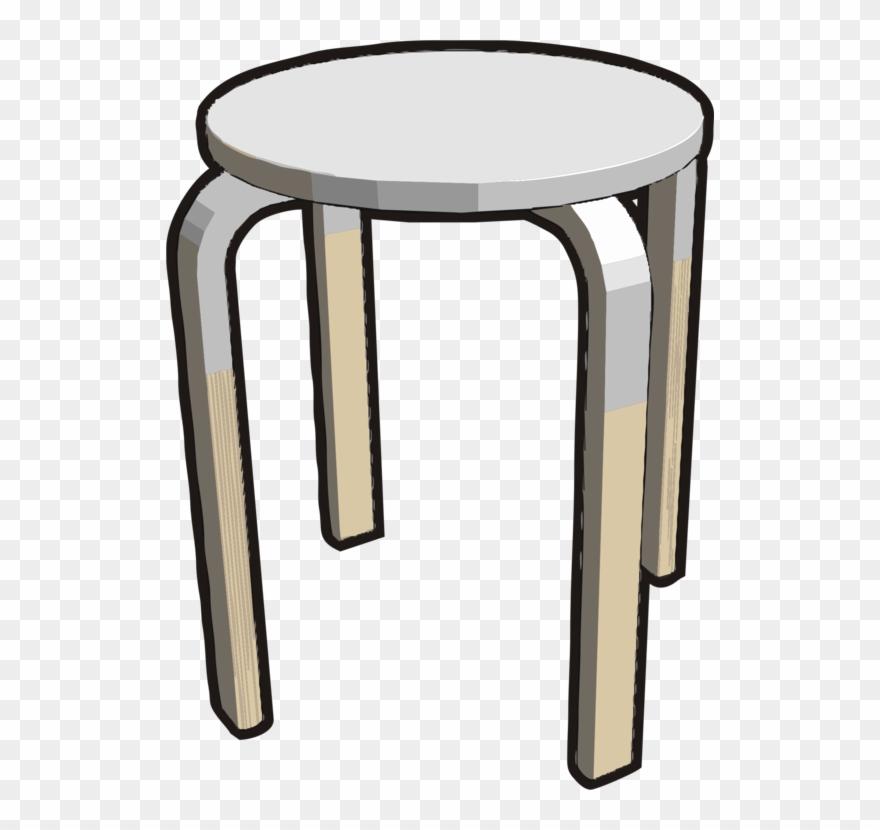 Satools clipart svg royalty free Table Bar Stool Chair White - Stool Clipart - Png Download ... svg royalty free