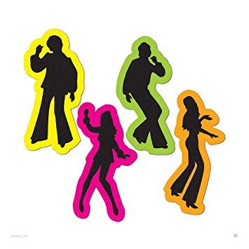 Saturday night fever clipart clip stock Amazon.com: (4) 70s Decade Party Decoration DISCO Saturday ... clip stock