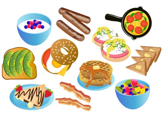Teen breakfast clipart svg free library BRUNCH CLIPART - breakfast icons! Printable eggs and bacon ... svg free library