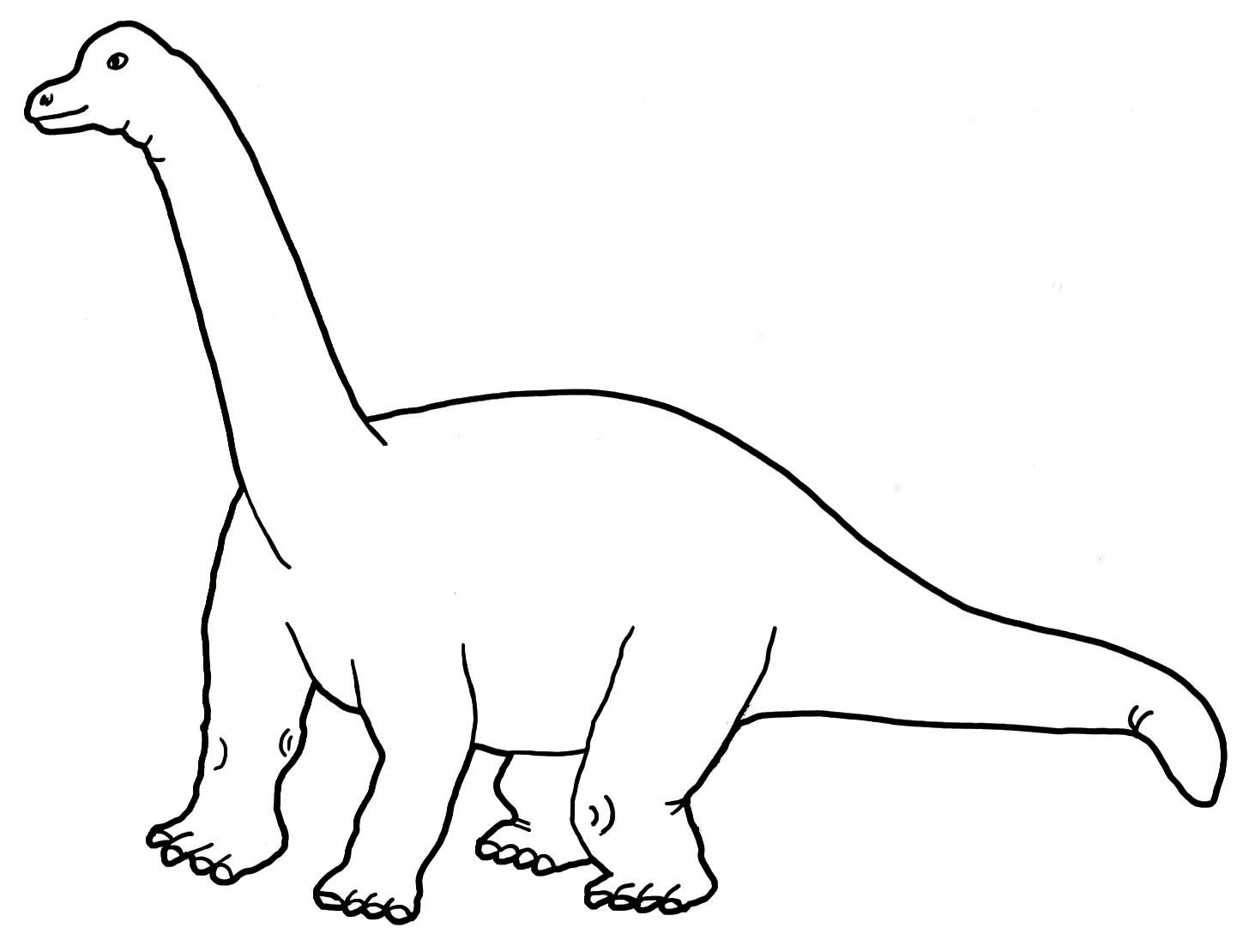 Sauropod clipart clip library stock Dinosaur Coloring Pages clip library stock