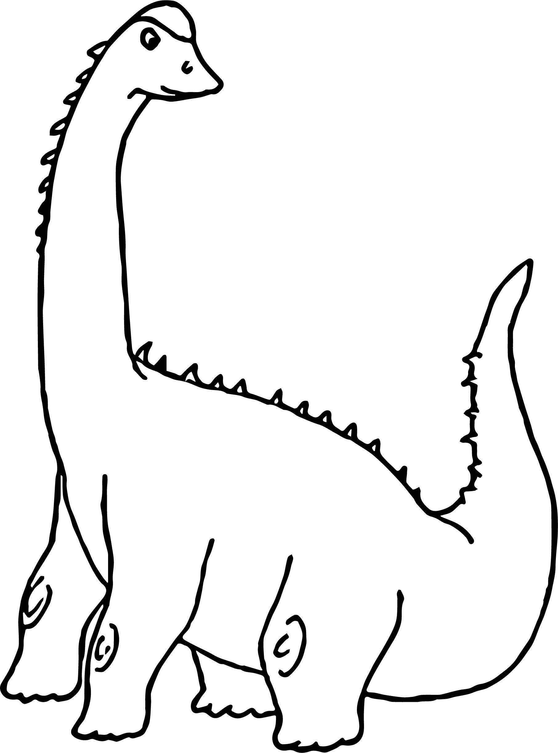 Sauropod clipart clip library nice Dinosaur Clipart Sauropod Coloring Page   boyama sayfasi clip library