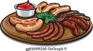 Sausages clipart jpg royalty free download Sausage Clip Art - Royalty Free - GoGraph jpg royalty free download