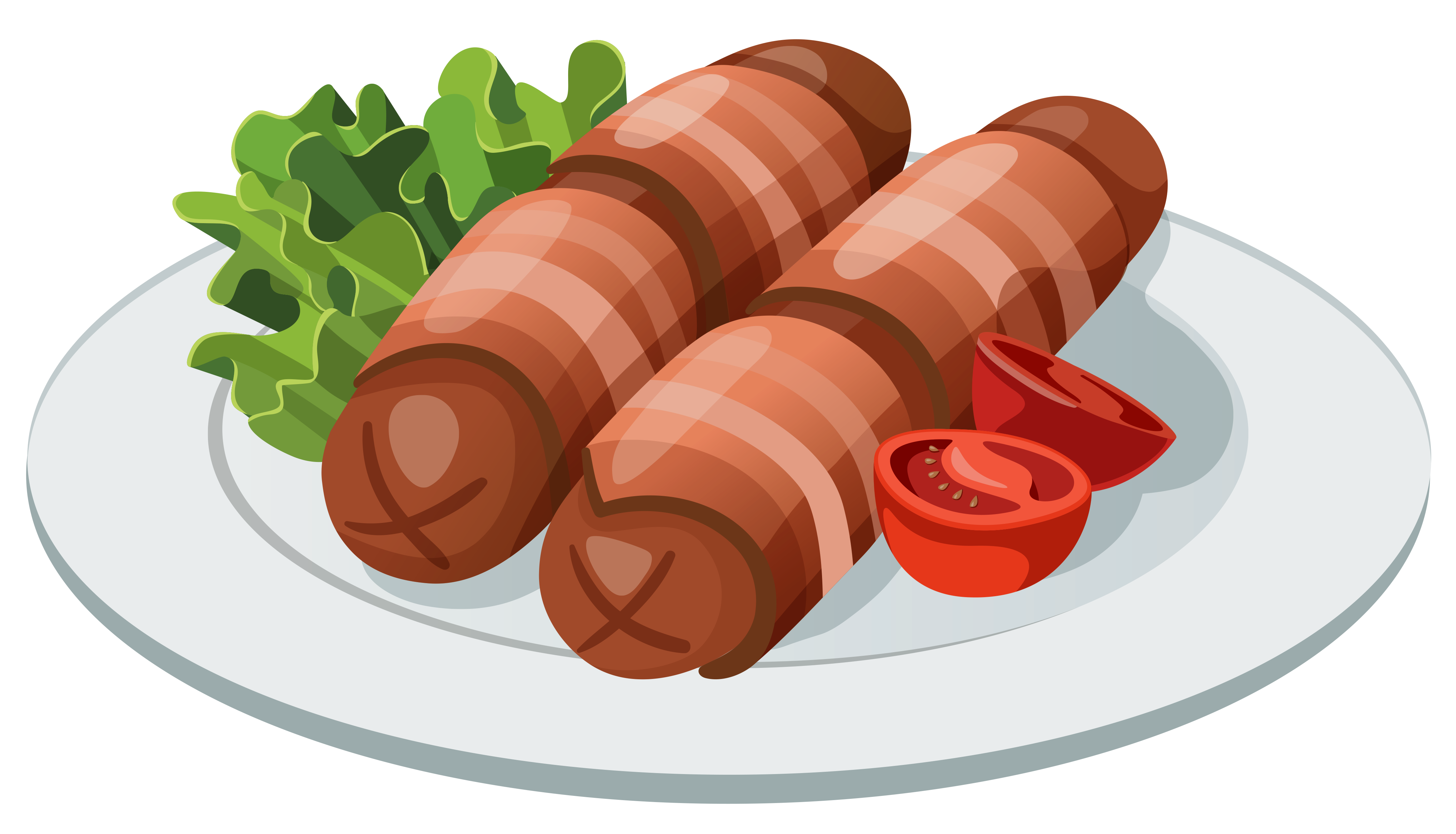 Sausages clipart svg freeuse Grilled Sausages PNG Vector Clipart | Gallery Yopriceville ... svg freeuse